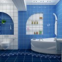 Синият цвят в интериора на банята