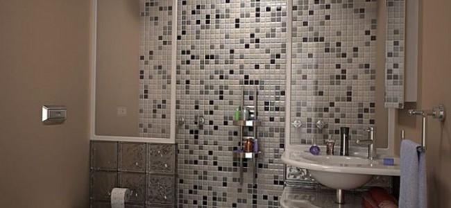 Малките мозаечни плочки  в банята