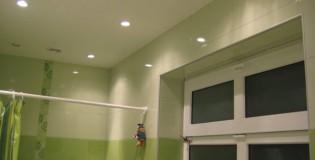 Окачен таван в банята